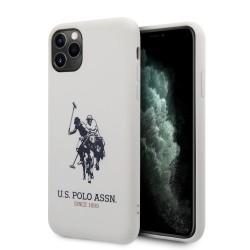 US Polo iPhone 11 Pro Max Hülle Logo Silikon Innenfutter Weiß