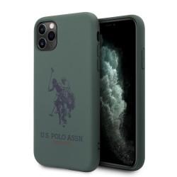 US Polo iPhone 11 Pro Max Hülle Logo Silikon Innenfutter Grün