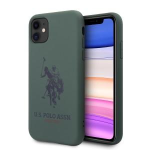 US Polo iPhone 11 Hülle Logo Silikon Innenfutter Grün