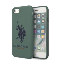 US Polo iPhone SE 2020 / 8 / 7 Hülle Logo Silikon Innenfutter Grün