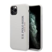US Polo iPhone 11 Pro Max Hülle Effect Logo Silikon Innenfutter Weiß