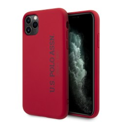 US Polo iPhone 11 Pro Max Hülle Effect Logo Silikon Innenfutter Rot