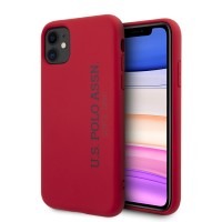 US Polo iPhone 11 Hülle Effect Logo Silikon Innenfutter Rot