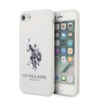 US Polo iPhone SE 2020 / 8 / 7 Hülle Logo Silikon Innenfutter Weiß