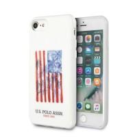 US Polo iPhone SE 2020 / 8 / 7 Hülle USA Flagge weiß