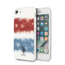 US Polo iPhone SE 2020 / 8 / 7 Hülle Tricolor USA Flagge weiß