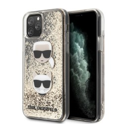 Karl Lagerfeld iPhone 11 Pro Max Glitter Karl & Choupette Hülle Gold