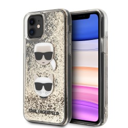 Karl Lagerfeld iPhone 11 Glitter Karl & Choupette Hülle Gold