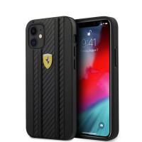 Ferrari iPhone 12 mini 5,4 On Track Carbon Cover / Case / Hülle Schwarz