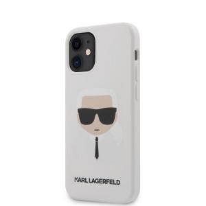Karl Lagerfeld iPhone 12 mini 5,4 Schutzhülle Silikon Head Weiß