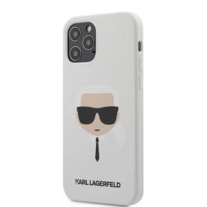 Karl Lagerfeld iPhone 12 / 12 Pro 6,1 Schutzhülle Silikon Head Weiß