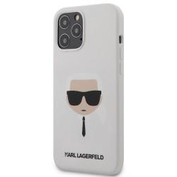 Karl Lagerfeld iPhone 12 Pro Max 6,7 Schutzhülle Silikon Head Weiß