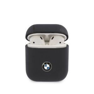 BMW AirPods 1 / 2 Echtleder Hülle Cover Case blau Signature BMA2CSLNA