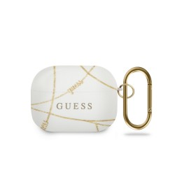 Guess AirPods Pro Cover / Case / Hülle Chain Goldkette Weiß Gold