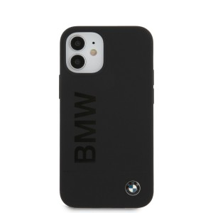 BMW iPhone 12 mini 5,4 Silicone Signature Cover / Case / Hülle schwarz