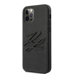 Karl Lagerfeld iPhone 12 / 12 Pro 6,1 Lizard Hülle Schwarz