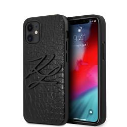 Karl Lagerfeld iPhone 12 mini 5,4 Croco Hülle schwarz