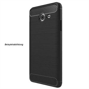 Hybrid TPU Case Handyhülle im Carbon Look für Samsung Galaxy A6+ / A6 Plus 2018