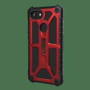 Urban Armor Gear Monarch Schutzhülle | für Google Pixel 3 XL | crimson rot