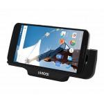 USB Dockingstation für Google Motorola Nexus 6 Hochglanz in SCHWARZ