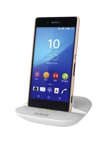Weiß UFO Design USB Dockingstation für Sony Xperia Z5 Premium / Z5 / Z5 Compact