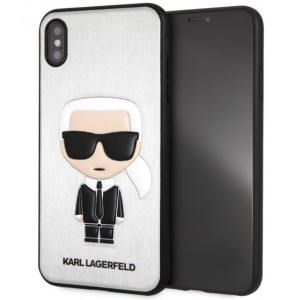 Karl Lagerfeld Silikon Cover / Hülle für iPhone XR Silber