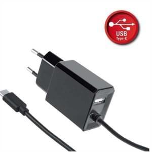 Netzteil USB Typ C + USB-A - Eingang: 100-240V AC - Ausgang: 5V DC 3.4A - Länge: 1.2 m