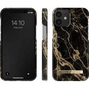 iDeal of Sweden iPhone 12 Mini Case Golden Smoke Marble schwarz