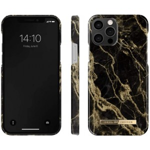 iDeal of Sweden iPhone 12 / 12 Pro 6,1 Case Golden Smoke Marble schwarz