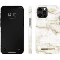 iDeal of Sweden iPhone 12 / 12 Pro Case Golden Pearl Marble