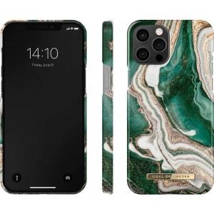 iDeal of Sweden iPhone 12 / 12 Pro Case Golden Jade Marble