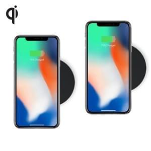 Zens 2x Single Wireless Charger Round TWIN Pack 5W Qi | schwarz