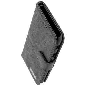 COMMANDER Handytasche BOOK CASE ELITE für Samsung Galaxy A6+ Plus 2018 Schwarz