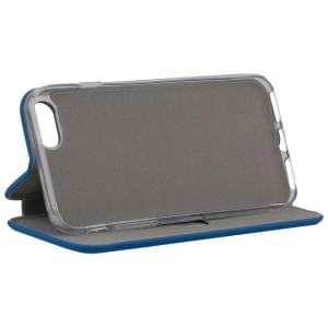 COMMANDER Tasche Book Case CURVE für Apple iPhone 8 / 7 Soft Touch Maritim Blue