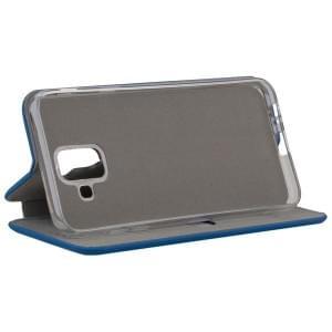 COMMANDER Tasch Book Case CURVE für Samsung Galaxy A6 Soft Touch Maritim Blue