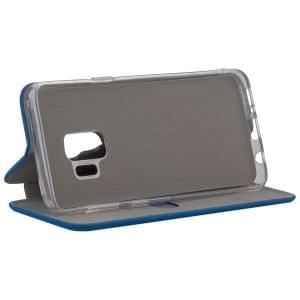 COMMANDER Tasche Book Case CURVE für Samsung Galaxy S9 Soft Touch Maritim Blue