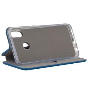 COMMANDER Tasche Book Case CURVE für Huawei P20 Lite Soft Touch Maritim Blue