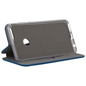 COMMANDER Book Case CURVE für Huawei Y7 2018 Soft Touch Maritim Blue
