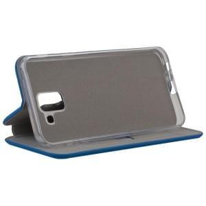 COMMANDER Tasche Book Case CURVE für Samsung Galaxy J6 (2018) Soft Touch Maritim Blue