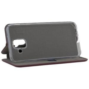 COMMANDER Tasche Book Case CURVE für Samsung Galaxy A6 Soft Touch Bordeaux