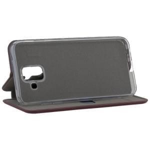 COMMANDER Tasche Book Case CURVE für Samsung Galaxy A6 Soft Touch Bordeaux