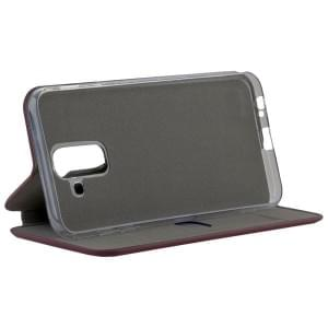 COMMANDER Tasche Book Case CURVE für Samsung Galaxy A6+ Plus Soft Touch Bordeaux