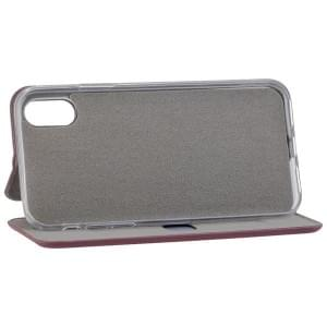 COMMANDER Tasche Book Case CURVE für Apple iPhone X / XS Bordeaux