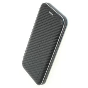 COMMANDER Smart Tasche NOBLESSE Carbon Style für iPhone XR - Schwarz