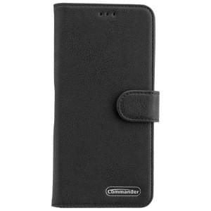 Samsung Galaxy A9 2018 COMMANDER Tasche Book Case ELITE schwarz