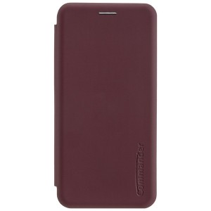 COMMANDER Tasche / Book Case für Huawei P30 Lite Soft Touch Bordeaux