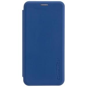 COMMANDER Tasche / Book Case für Huawei P30 Soft Touch Maritim Blau