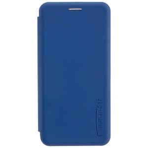COMMANDER Book Case / Tasche CURVE für Samsung Galaxy A50 Soft Touch Maritim Blau