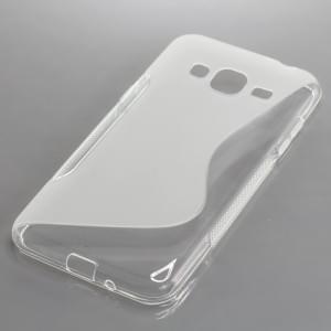 TPU Silikon Case / Schutzhülle für Samsung Galaxy J3 (2016) SM-J320 S-Curve transparent