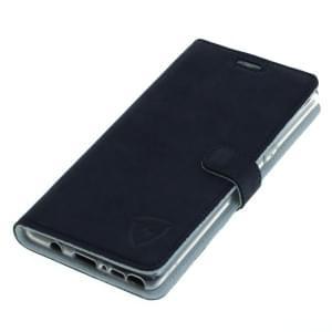 digishield WATER Ledertasche aus Nubukleder für Samsung Galaxy Note 8 blau / weiß